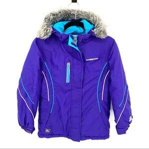 Zeroexposure Girls M 10/12 Winter Ski Snow Jacket